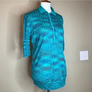 MISSONI Vintage Knit Polo Shirt with Elbow Sleeves